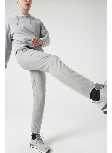 Tween Slim Fit Düz Chino Pantolon Gri